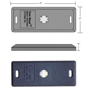 "34"" x 14"" One Base® Portable Base Specificatoins"