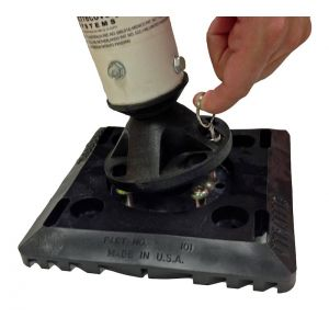 """8""""x8"""" Surface Mount Quick Release Base with Post"""