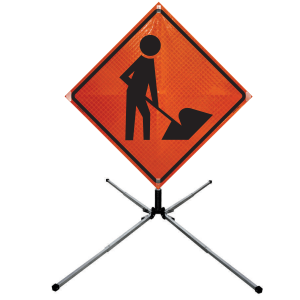 Dicke Safety Products UF2000 - Compact Sign Stand