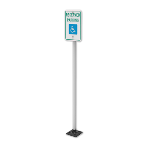 """Impact Recovery Systems Sta-Rite 102"""" Sign Post Without Bollard"""