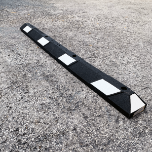 NoTrax Safety 6' Black/White Recycled Rubber Car Stop