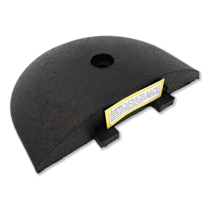 Justrite Safety, Easy Rider® Speed Bump End Cap Angle View