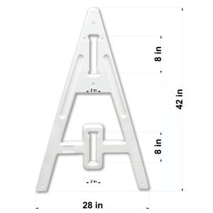 """Omni™ Type 1 """"A-Frame"""" Barricade Leg Measured"""