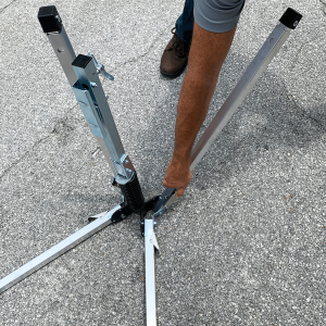 Dicke Safety Products UF2000 - Compact Sign Stand Release Different angle