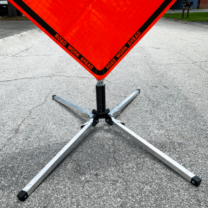 Dicke Safety Products UF2000 - Compact Sign Stand Live Action