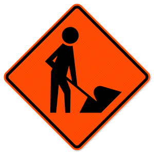National Traffic Signs W21-1a-36-DGFO Worker Symbol Sign