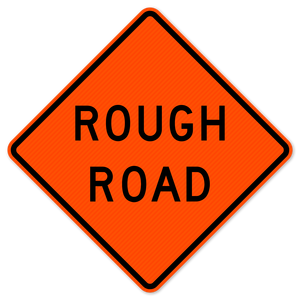 National Traffic Signs W8-8-36-DGFO Loose Gravel (Rough Road) Sign