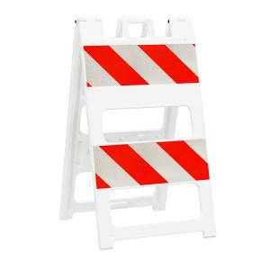 "24"" Wide Type II High Intensity Plastic Folding Barricade angle"