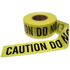 """3""""x1000 ft. Yellow Caution Tape"""