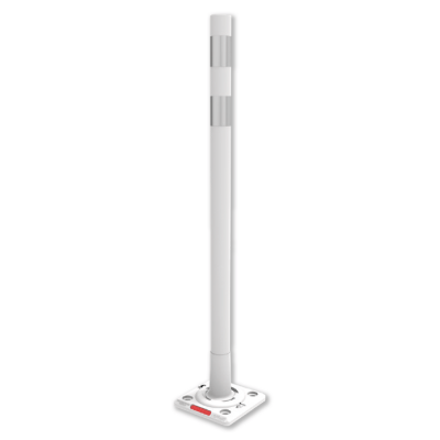 Impact Recovery Systems White OmegaPost High Speed, High Performance Delineator Post