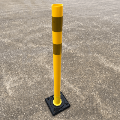 Impact Recovery Systems Yellow OmegaPost High Speed, High Performance Delineator Post On Street